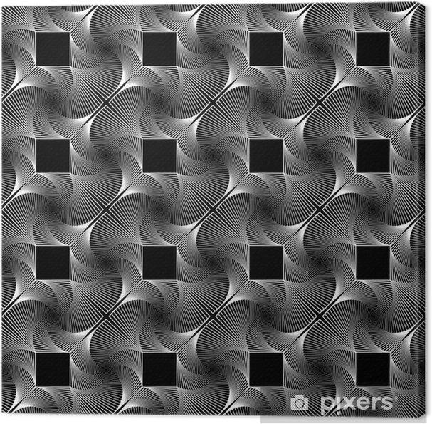 Obraz na płótnie Projekt bez szwu monochromatyczny geometryczny wzór dekoracyjny - Tła