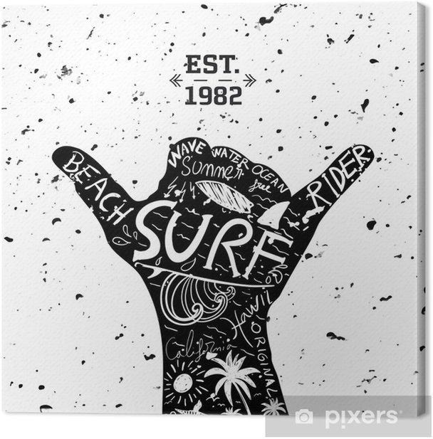 Obraz na płótnie Projekt surfingu - Tła