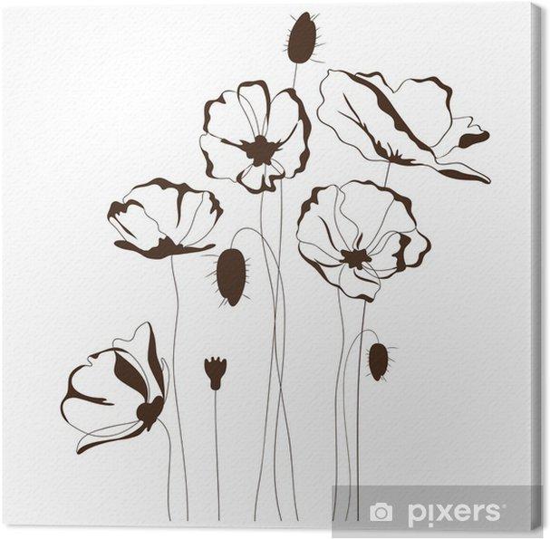 Obraz na płótnie Projektu Poppy, kwiatów w tle - Kwiaty