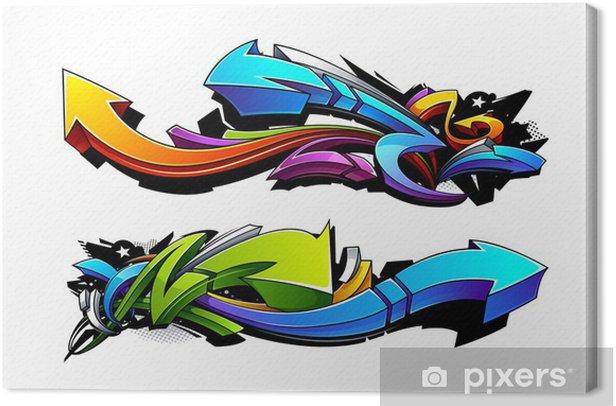 Obraz na płótnie Projekty strzałki grafitti - Naklejki na ścianę