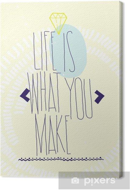 Obraz Na Płótnie Proste Inspirujące Cytaty Motywujące Plakat Z Brylantem Dood