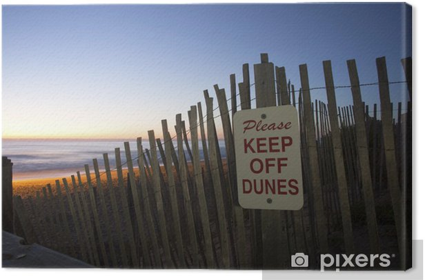 Obraz na płótnie Proszę zachować się wydmy na wschód słońca - Woda