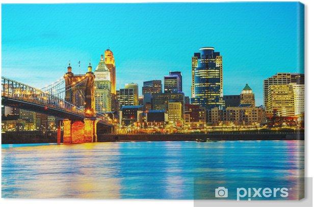 Obraz na płótnie Przegląd centrum Cincinnati - Ameryka