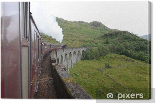 Obraz na płótnie Przejazd pociągu parowego Jakobita Glenfinnan wiadukt - Kolej