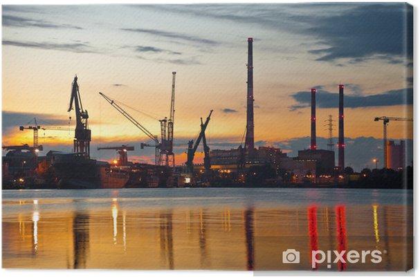 Obraz na płótnie Przemysłowy widok na zachód słońca - Tematy