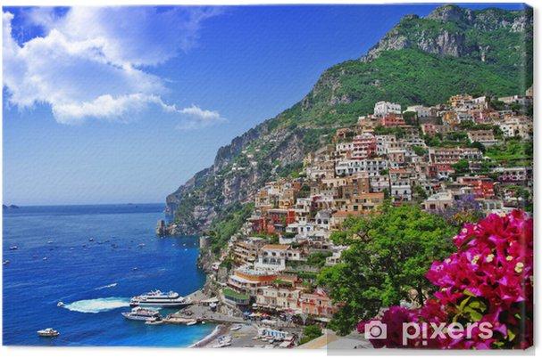 Obraz na płótnie Przepiękna sceneria wybrzeża Włoch Amalfi, Positano. - Tematy