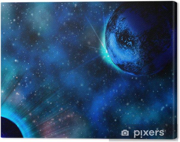 Obraz na płótnie Przestrzeń planeta lodu - Tematy