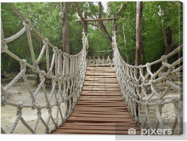 Obraz na płótnie Przygoda drewniane dżungli Most lina zawieszenia - Tematy