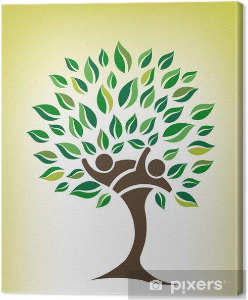 Obraz na płótnie Przyjaciele drzewa logo - Drzewa
