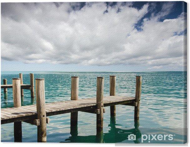 Obraz na płótnie Przystań dla łodzi Rekreacji nad jeziorem :) - Woda