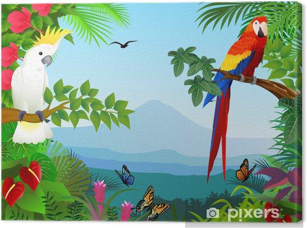 Obraz na płótnie Ptak w pięknym lesie - Przeznaczenia