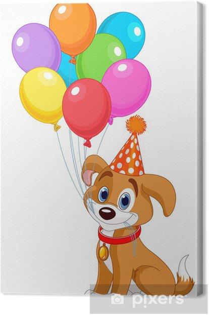 Obraz na płótnie Puppy urodziny - Świętowanie