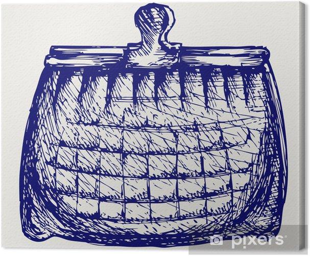 Obraz na płótnie Pusty portfel. Doodle styl - Finanse