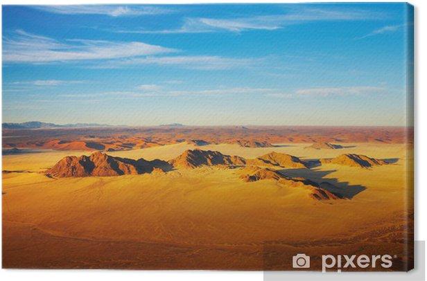 Obraz na płótnie Pustynia Namib, wydmy z Sossusvlei, widok z lotu ptaka - Inne Inne