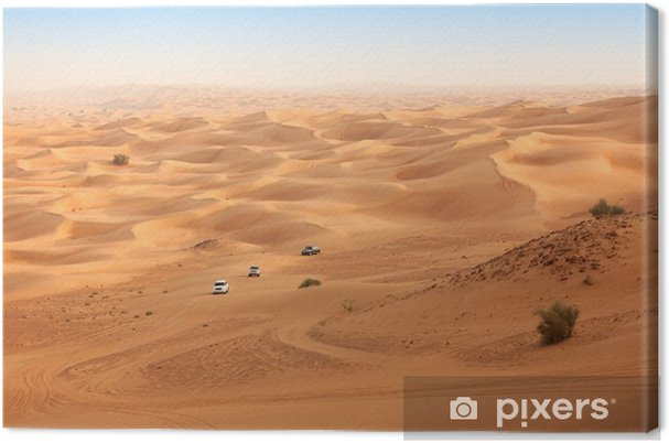 Obraz na płótnie Pustynne safari w pobliżu Dubaju. UAE - Pustynia