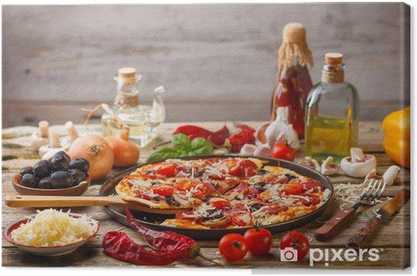 Obraz na płótnie Pyszne świeże pizzy - Tematy