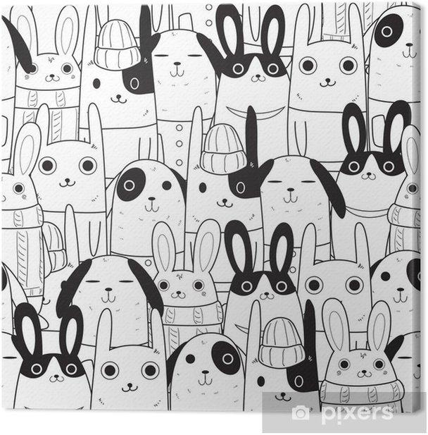 Obraz na płótnie Rabbit szwu - Zwierzęta