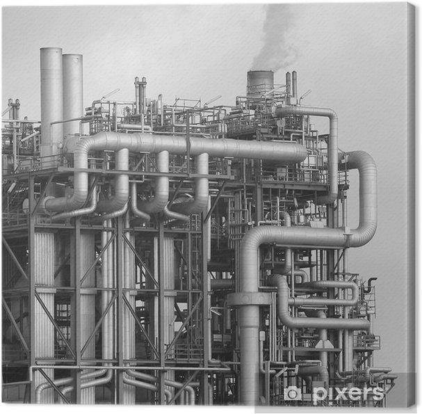 Obraz na płótnie Rafinerii OMV - Budynki przemysłowe i handlowe