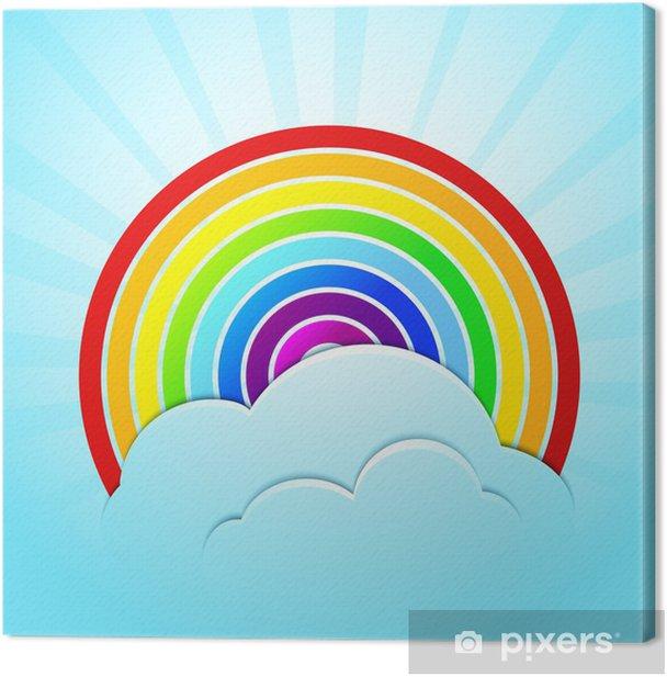 Obraz na płótnie Rainbow z nieba i chmur - Niebo