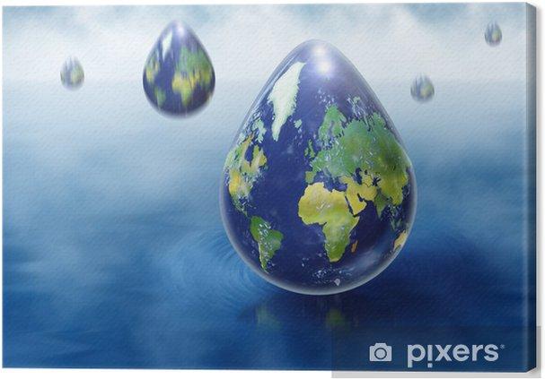 Obraz na płótnie Raindrops EARTH - Cuda natury