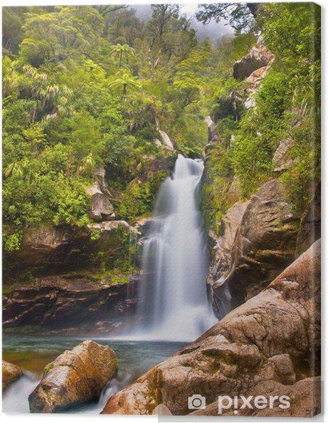 Obraz na płótnie Rainforest wodospad Nowa Zelandia - Cuda natury