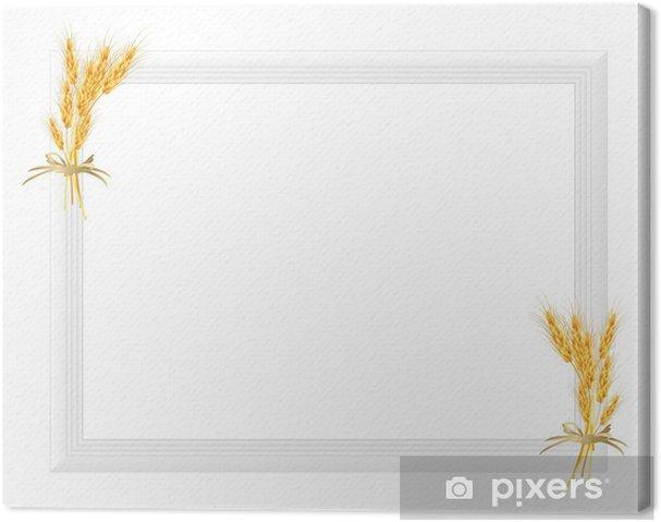 Obraz na płótnie Ramka do zdjęć z rośliną - Pory roku