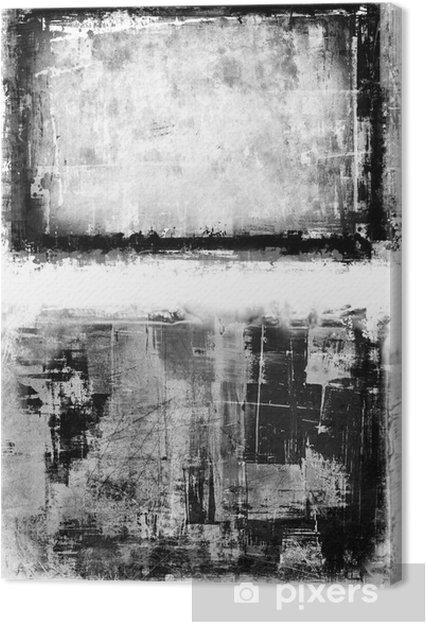 Obraz na płótnie Ramka splatter abstrakcyjne farby w czerni i bieli - Sztuka i twórczość