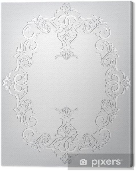 Obraz na płótnie Ramka w stylu secesyjnym - Znaki i symbole
