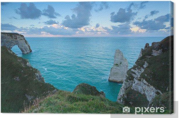 Obraz na płótnie Rano niebo nad Oceanem Atlantyckim i klify - Woda