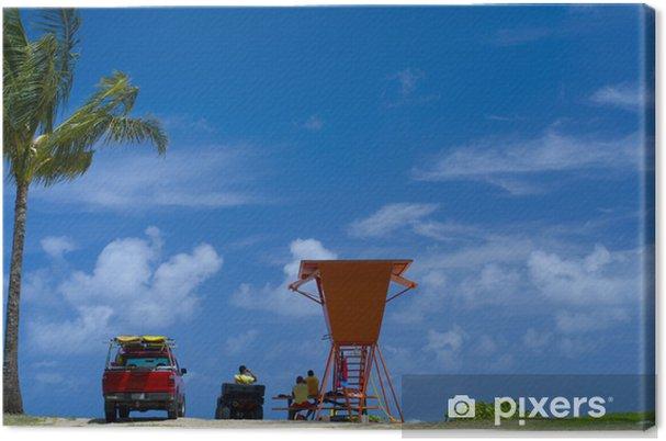 Obraz na płótnie Ratownik wie, Kauai - Wakacje