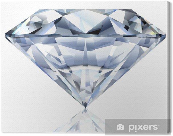Obraz na płótnie Realistyczne ilustracji diament - Moda