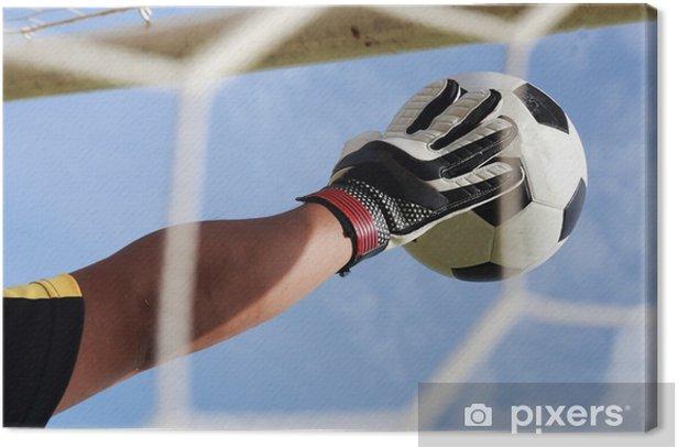Obraz na płótnie Ręce bramkarskie idące stóp piłki - Mecze i zawody