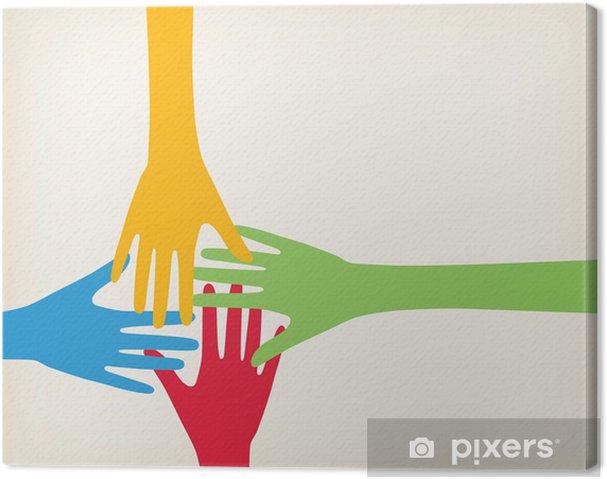Obraz na płótnie Ręce łączące - Koncepcje biznesowe