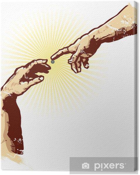 Obraz na płótnie Ręce religii Creation Illustration Vector - Części ciała
