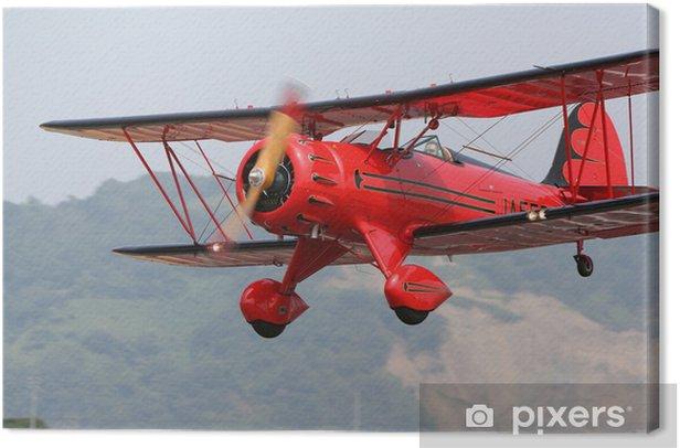 Obraz na płótnie Red dwupłatowiec - Transport powietrzny