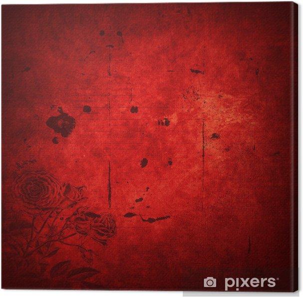 Obraz na płótnie Red grunge tekstury - Tła