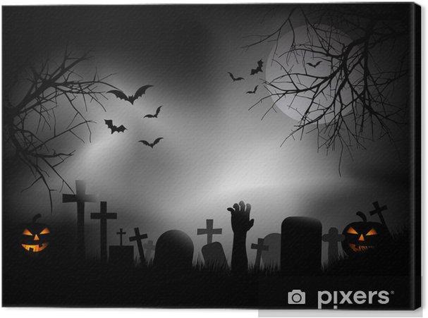 Obraz na płótnie Ręka Zombie na cmentarzu - Święta międzynarodowe