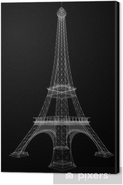 Obraz na płótnie Renderowania 3D Wieża Eiffla - Miasta europejskie