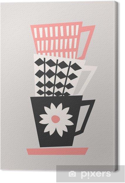 Obraz na płótnie Retro filiżanek kawy - Napoje