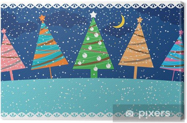 Obraz na płótnie Retro kartki świąteczne, ilustracji wektorowych - Święta międzynarodowe