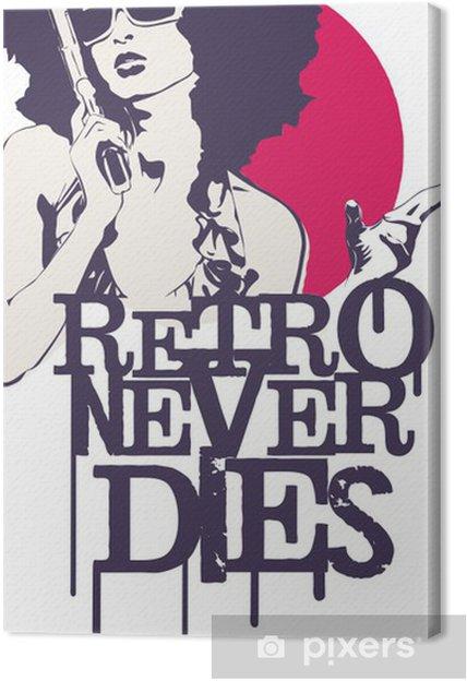Obraz na płótnie Retro nigdy nie umiera -