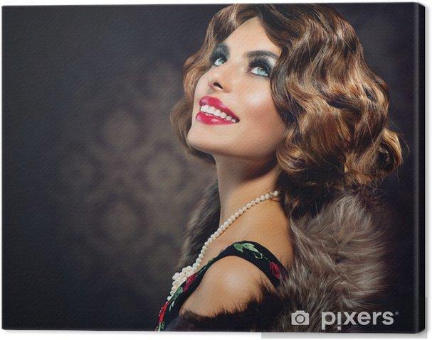 Obraz na płótnie Retro Portret Kobiety. Rocznika stylem fotografii - Kobiety