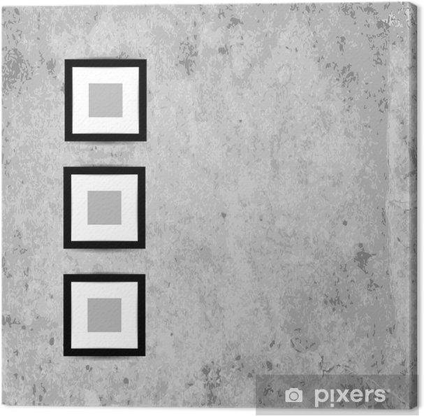 Obraz na płótnie Retro ramki do zdjęć na ścianie grunge dla projektu - Tekstury