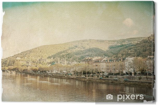 Obraz na płótnie Retro stare miasto Heidelberg - Pejzaż miejski