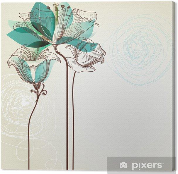 Obraz na płótnie Retro tle kwiatów - Style