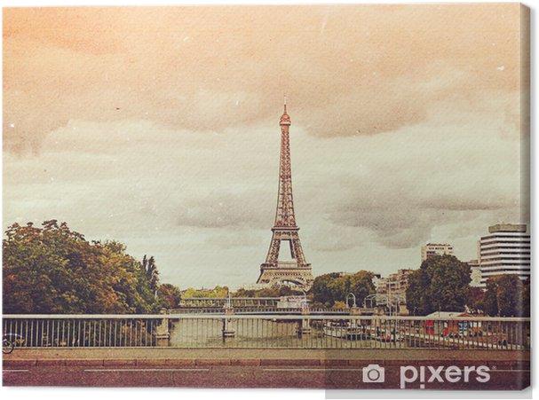 Obraz na płótnie Retro zdjęcie z Paryż, Francja, vintage - Tematy
