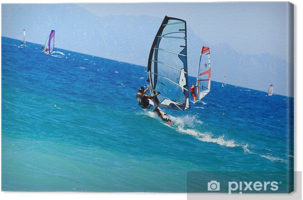 Obraz na płótnie Rhodes windsurf 1 - Sporty wodne