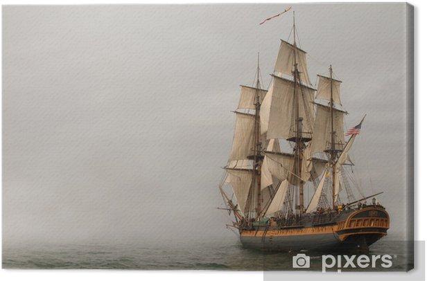 Obraz na płótnie Rocznik fregaty żeglowanie w mgły - Tematy