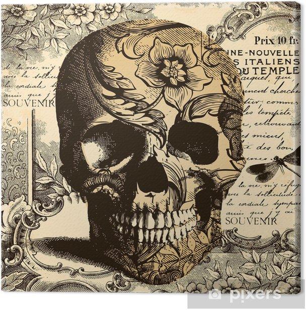 Obraz na płótnie Rocznika tle czaszki - Style