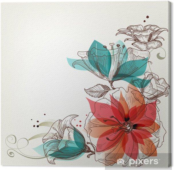 Obraz na płótnie Rocznika tle kwiatów - Tematy